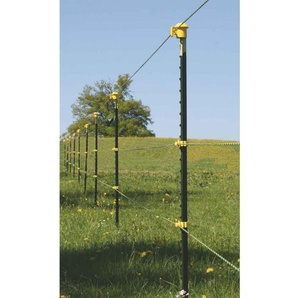 T-Pfosten Band-Starterset für ca. 150 m Zaun 1,75 m hoch, gelbe Isolatoren - AVERDE