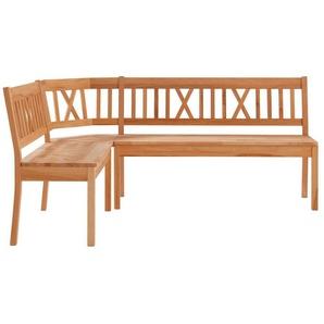 Premium collection by Home affaire Eckbank »Lukas«, mit Stauraum unter den Sitzflächen, wahlweise aus massiver Eiche oder Buche, beige