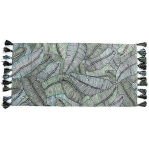 Teppich Jungle, B:70cm x L:140cm, blaugrün