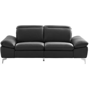 Xora: Zweisitzer, Chrom, Dunkelgrau, B/H/T 200 80 104