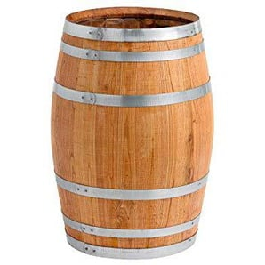 150 Liter Holzfass, Neues Fass, Weinfass aus Kastanienholz Geöffnet als Regenfass, Regentonne (Fass Geölt)