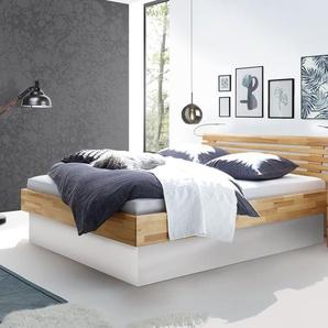 Design Holzbett Grosseto - 180x200 cm - Buche kirschbaumfarben
