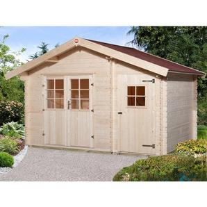 Weka Holz-Gartenhaus Brixen mit Satteldach Natur B x T: 370 cm x 200 cm