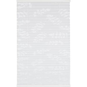 Tageslichtplissee Blüten weiß 100 x 130 cm