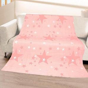 Gözze Wohndecke »Stars«, 150x200 cm, rosa