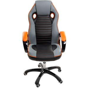 Chefsessel Bürostuhl - Mod. Sport Racing - ideal für Gaming - Orange - IDRALITE