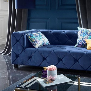Leonique Big-Sofa »Quinto«, blau, Samtstoff