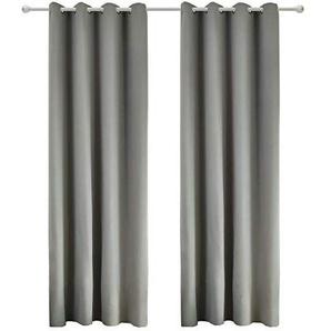 blickdichte vorh nge in grau preise qualit t vergleichen m bel 24. Black Bedroom Furniture Sets. Home Design Ideas