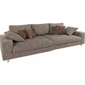 Nova Via Big Sofa, beige, Inkl. loser Zier- und Rückenkissen, FSC®-zertifiziert