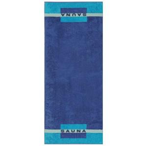 Cawö Saunatuch SAUNA Blau