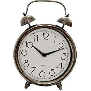 Sukima Desktop Decor Vintage Uhr, Metall, Silber, 23x 8x 32cm