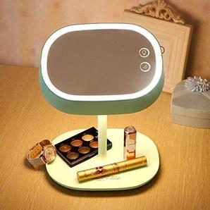 Darcyk Schminkspiegel Desktop LED Tischspiegel rotierenden Touchscreen nach Hause multifunktionale Schönheit Kosmetikspiegel-Grün_216 mm x 176 mm x 255 mm