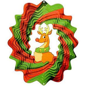 Spin-Art Windspiel Christmas Rudolp, mehrfarbig, 16 x 24,5 cm, 06DRU300