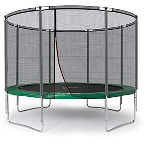 Ampel 24 Outdoor Trampolin 305 cm grün komplett mit außenliegendem Netz, Stabilitätsring, 8 gepolsterten Stangen, Belastbarkeit 150 kg