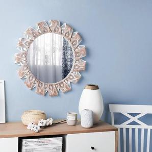 Wandspiegel weiß/kupfer rund ø60 cm MANGALORE