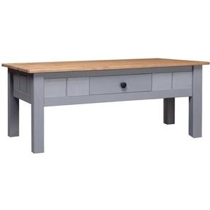 Couchtisch Grau 100 x 60 x 45 cm Massivholz Panama-Kiefer - VIDAXL