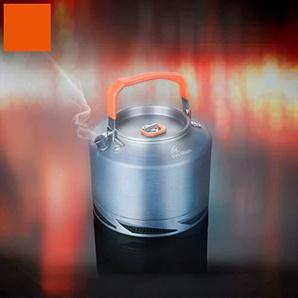 Kochgeschirr-Wasserkocher-tragbare Teekanne mit Maschentasche für das kampierende Aluminium der Reise