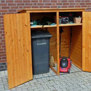 PROMADINO Mülltonnenbox , für 2x240 l aus Holz, B/T/H: 166/101/161 cm