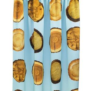 Vhg Vorhang »Holzscheibe Natur«, H/B 160/145 cm, blau