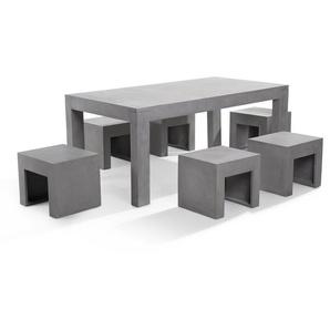Gartenmöbel Set Beton 6-Sitzer TARANTO