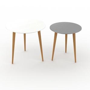 Couchtisch Grau - Eleganter Sofatisch: Beste Qualität, einzigartiges Design - 50/40 x 47/44 x 50/40 cm, Konfigurator