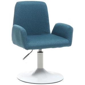 Design-Sessel drehbar Blaugrün SOLLY