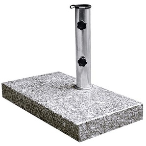 Sonnenschirmständer ,grau ,Stein, Marmor, Granit