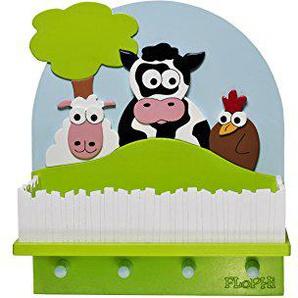 Flophi Kindergarderobe mit Mützenablage Motiv Bauernhof
