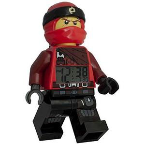 LEGO Kai Ninjago 9009181 Kinderwecker Kunststoff 24cm, Rot/Schwarz, 24