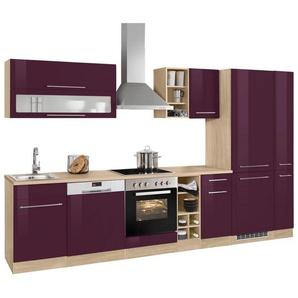 HELD MÖBEL Küchenzeile ohne E-Geräte »Eton«, Breite 330 cm, lila
