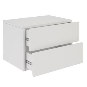 Wandregal Nachtschrank ANNI mit 2 Schubladen in weiß