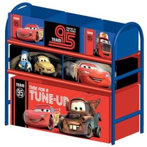 Delta Childrens Products Multi Toy Organizer CARS mit 6 Fächern und Metallgestell Aufbewahrungsboxen Spielzeugregal