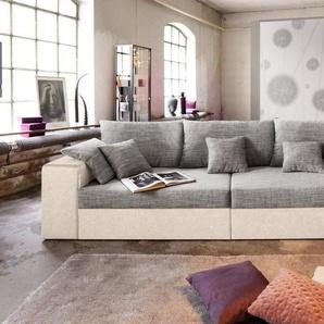 Nova Via Big-Sofa, wahlweise in XL oder XXL, beige, Microfaser PRIMABELLE® / Struktur