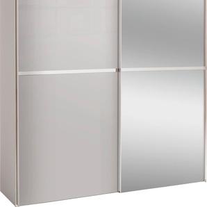 Schwebetürenschrank mit Glasfront und Spiegel, grau, Höhe 216 cm, Breite 200cm, »dayton«, FSC®-zertifiziert, set one by Musterring