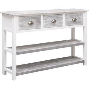 Sideboard Antik-Grau 115 x 30 x 76 cm Holz - VIDAXL