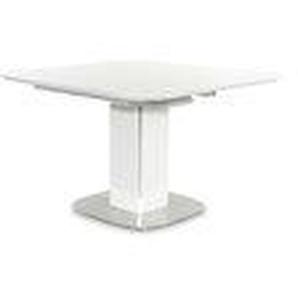 Montefan - Esstisch ausziehbar weiß Edelstahl
