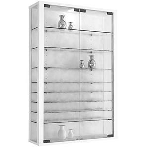 "VCM Vitrine Wandvitrine Sammelvitrine Wand Regal Glas Hänge ohne Beleuchtung Weiß 90 x 59 x 18 cm ""Vitrosa Mini"""