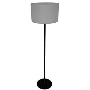 Leco Terrassenstehlampe Stehlampe, Schwarz, Weiß, Gesamthöhe 145 cm Fuß 29 cm Ø 40 cm Lampenschirm Höhe: ca. 25 cm