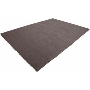 Lalee Teppich »Velluto 400«, 160x230 cm, 17 mm Gesamthöhe, braun