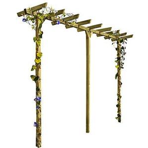 Gartenpirat Pergola aus Holz Torbogen Rankhilfe Länge ca. 450 cm (7x7)