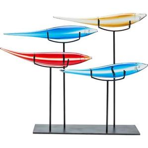 KARE DESIGN Dekoobjekt PESCE COLORE Glas mehrfarbig 5-tlg.