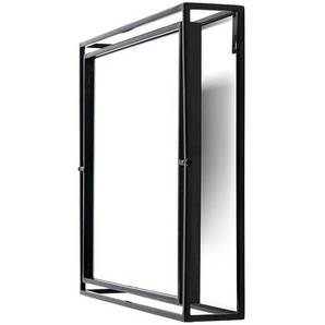 Spiegel kippbar, 28x6x28cm, schwarz
