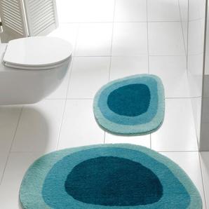 Badematte, blau, Gr. 60/90 cm, Grund, Material: Polyacryl