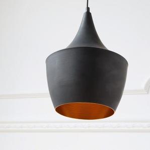 Pendelleuchte Calathia 17 cm Schwarz Matt Aluminium, Hängeleuchten