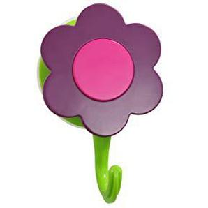 Cook line KOCHBLUME Blumenhaken mit Saugnäpfen - Wandhaken - Ø = 7 cm (lila)