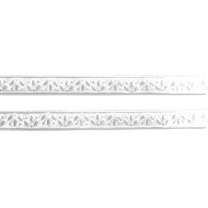 Walter Kunze Design Dresden Bordüre Blütenstreifen 2/9-Inch weiß