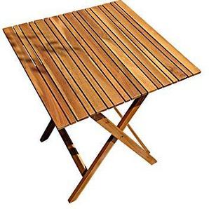 SAM Gartentisch Camelia, 62x62 cm, Balkontisch aus Akazienholz, klappbar, FSC Zertifiziert