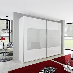 Inosign Schwebetürenschrank mit gemusterter Glasfront, in drei Breiten, weiß