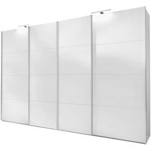 JUSTyou Amadora Schwebetürenschrank Kleiderschrank Garderobe Garderobensetnschrank Schlafzimmer Weiß