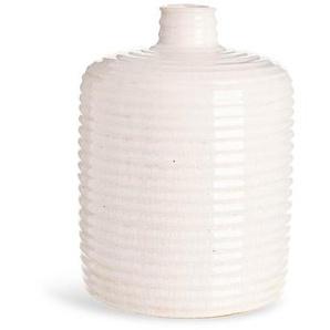 Vase Crincle, D:16cm x H:20cm, offweiß
